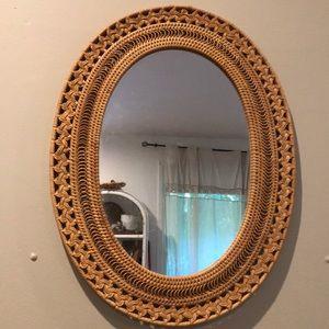 Vintage oval boho mirror